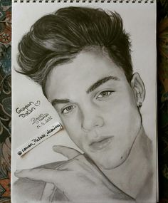 Grayson Dolan drawing Dolan twins Graphite drawing/Follow my IG for more @rawandrawings