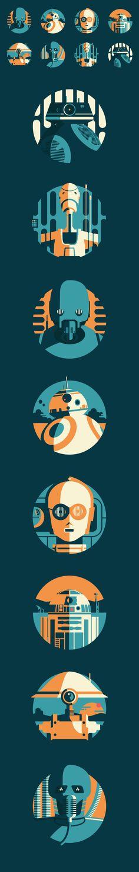 Star Wars Droids - Illustrator James Birks