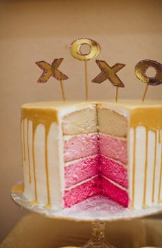 Gold dipped ombré cutest birthday cakes