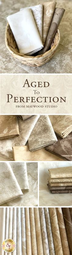 Aged To Perfection by Maywood Studio Fabrics is a versatile neutral fabric collection available at Shabby Fabrics