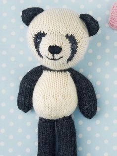 Riley the Panda by Rachel Borello | Toy Knitting Patterns | Knitting Patterns | Deramores