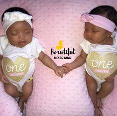 Nova & Nyla - 1 Months • African American & Mexican FOLLOW @BEAUTIFULMIXEDKIDS http://instagram.com/beautifulmixedkids