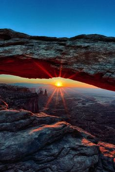 Mesa Arch in Canyonlands National Park.