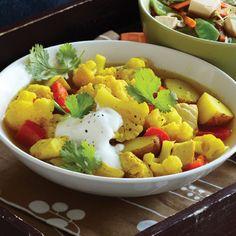 Curried Chicken & Cauliflower Soup