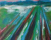 Crop Row Painting by Laura W Taylor