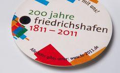 """Kampagne für Stadtmarketing Friedrichshafen: Dass ein Auftritt für 200 Jahre Geschichte kein historisierender Blick nach hinten sein muss zeigt die Kampagne """"200 Jahre Friedrichshafen""""."""