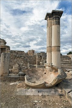 Stone Pithos in the Palaestra | Temple of Apollo Kourion, Cyprus