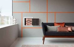 New paint trends and techniques. #home #DIY #design (Credit: Glidden)