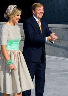 Queen Máxima, November 3, 2014 in Fabienne Delvigne | Royal Hats.....Posted on November 3, 2014 by HatQueen...King Willem-Alexander and Queen Máxima of the Netherlands kicked off the second leg of their Asian tour with an official welcome to South Korea.
