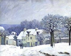 """. Alfred Sisley (1839-1899) """"The Place du Chenil at Marly-Le Roi"""""""