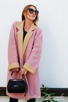 """В lookbook-ке на страничке """"розовый"""" пополнение еще одним новым экземпляром - пальто bicolor пудра+теплый бежевый..."""