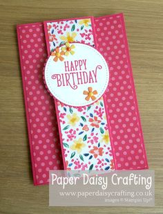 Fancy Fold card Stampin' Up! - cardsGarden Impressions Fancy Fold card Stampin' Up! - cardsImpressions Fancy Fold card Stampin' Up! - cardsGarden Impressions Fancy Fold card Stampin' Up! Slider Card, Tarjetas Stampin Up, Funeral Cards, Homemade Birthday Cards, Diy Birthday, Birthday Cards To Make, Simple Birthday Cards, Sister Birthday, Making Greeting Cards