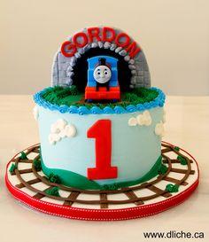 Gâteau thomas le train - Thomas the train cake