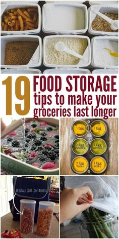 """These food storage tips save my groceries and my budget! Vegans - try the egg trick with flax seed """"eggs' and aquafaba!"""