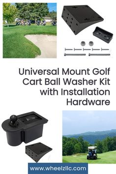 This permanent golf cart mount golf ball cleaner is the perfect solution for dedicated golfers. The durable bristles in this unit quickly clean your club face and ball. Golf Cart Parts, Custom Golf Carts, Golf Cart Accessories, Club Face, Golf Ball, Kit