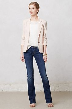 Anthropologie - jeans & blazer business casual,very simple and clean