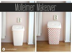 Mülleimer, Make Over, Before, After, Nette Idee um Mülleimer zu verschönern, Home