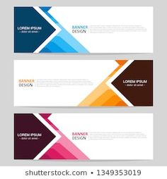 Collection of web banner template. Modern template design for web. Graphic Design Flyer, Ad Design, Brochure Design, Layout Design, Banner Template, Web Banner, Email Signature Templates, Standee Design, Banner Design Inspiration