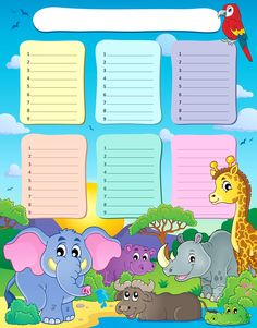 "Photo from album ""Расписание уроков"" on Yandex. Timetable Template, Planner Template, Preschool Education, Preschool Worksheets, Class Rules Display, School Timetable, Class Dojo, Kids Background, School Clipart"