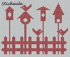 Birdhouse Cross Stitch Pattern | Cross-Stitch | CraftGossip.com