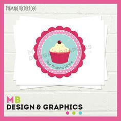 Pre made Logo Logo design Cake Logo cupcake by MBDesignandGraphics