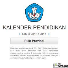 Kalender Pendidikan SD SMP SMA dan SLB Tahun 2016 / 2017