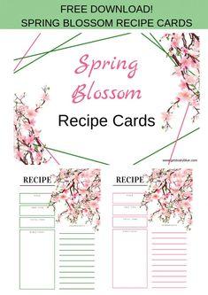Spring Blossom – Recipe Cards