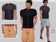 The Sims Resource: Summer Outfits For Male by Puresim • Sims 4 Downloads