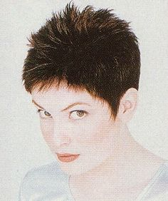 Very short hairstyle with a spiky short crop