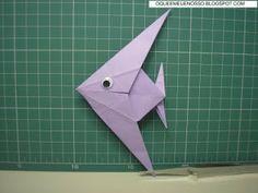 O QUE É MEU É NOSSO: Origami - Peixe Anjo - Angelfish - John Montroll