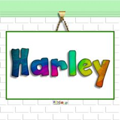 Personalised Name Art Nursery Decor Printable Name Room