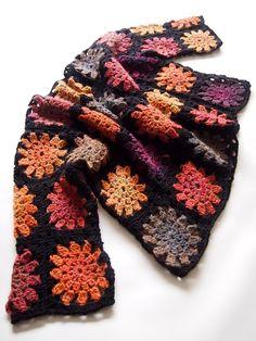 omⒶ KOPPA: Autumn wide shirt Crochet Squares, Crochet Granny, Knit Crochet, Crochet Jacket, Crochet Cardigan, Crochet For Beginners, Festival Wear, Yarn Needle, Hippie Chic