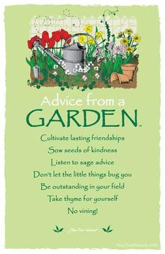garden quotes Advice from a Garden Frameable Art Postcard Path Of Life, Garden Poems, Garden Quotes, Advice Quotes, Sign Quotes, Advice Cards, Bible Quotes, Life Quotes Love, True Nature