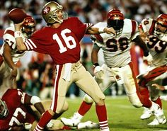 Super Bowl XXIII | January 22, 1989 – A repeat of Super Bowl XVI, with the 49ers winning again. Joe Montana led the 49ers to a 92 yard drive in just under 3 minutes, throwing a touchdown pass to John Taylor with 35 second left on the clock and win the game 20-16. Jerry Rice on the MVP, catching 11 passes for 215 yards and a touchdown.