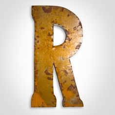 Letter R Large Letter F Large. Watson & Co.   Industrial Metal Letter Signs
