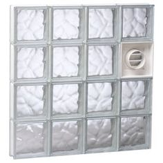 Redi2set Wavy Glass Pattern Frameless Replacement Glass Block Window (Rough Opening: 48-In X 32-In; Actual: 46.5-In X 31