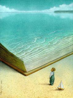el mejor momento... nadar en las páginas de un libro