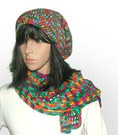 4ply beanie scarf set #crochet beanie be Renate Kirkpatrick
