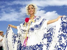 Pollera Panamena.  Totally dressed up and danced in these when I was a little girl in Panama.
