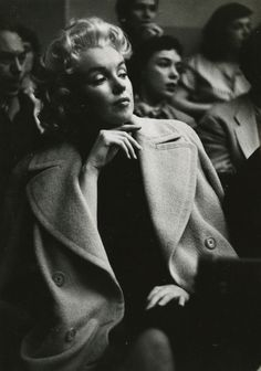 Marilyn ( photo by Carl Bakal , 1955 ) I believe this was taken at the Actor's Studio in New York, where Monroe studied.
