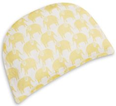 WeBe - Baby's First Pillow - Yellow Elephant Print