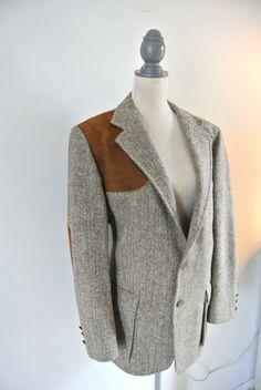 Orvis-Harris-Tweed-Shooting-Coat-Blazer-Suede-Elbow-Shoulder-Pad ...