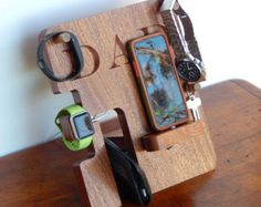 Personalized Phone and Apple Watch Docking by PerrelleDesigns