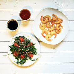 (nie)studenckie gotowanie: Krewetki w tempurze w towarzystwie sałatki z sosem ostro-kwaśnym Chana Masala, Ethnic Recipes, Food, Essen, Meals, Yemek, Eten