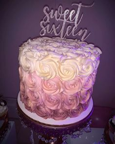 Annalisa Montanez 's Birthday / Rose Gold Sweet 16 - Photo Gallery at Catch My Party 16th Birthday Cake For Girls, 19th Birthday Cakes, Sweet 16 Birthday Cake, Elegant Birthday Cakes, Beautiful Birthday Cakes, 19 Birthday, 14 Birthday Party Ideas, Birthday Photos, Birthday Gifts