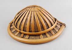 Helmet made of bamboo.