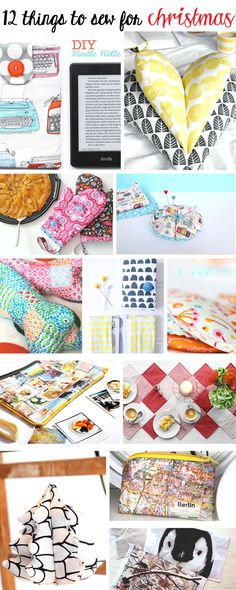 12 things to sew for christmas   DIY & crafts   christmas ideas to make   sewing gifts for friends and family   Tutorial   xmas project   gift ideas   waseigenes.com