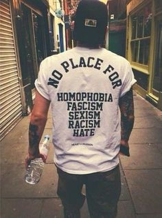 t-shirt white t-shirt quote on it graphic tee perfect white shirt mens t-shirt menswear guys tumblr shirt mens shirt white top homophobia lgbt black and white gay pride feminist band t-shirt swag trill white shirt clothes bag style punk alternative music hate