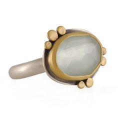 Ananda Khlasa   Aquamarine ring with Gold Discs   Max's