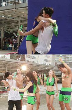 Kang So Ra Leaps Into iKON's Bobby's Arms in Sprite CF | Koogle TV